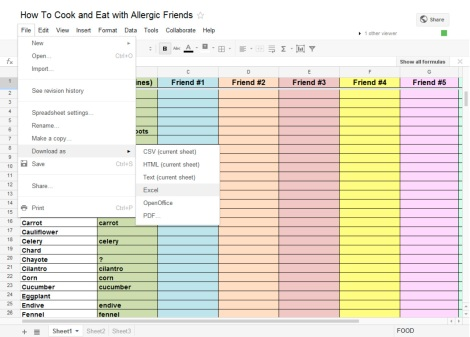 How to download the amine allergy tool from google docs