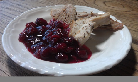 Low Amine Blueberry Vanilla Cranberry Sauce (photo)