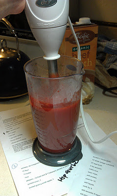 Tomato-free ketchup blended with an immersion blender photo