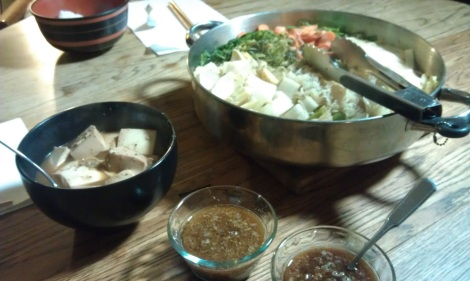 Sukiyaki, served at the table (photo)