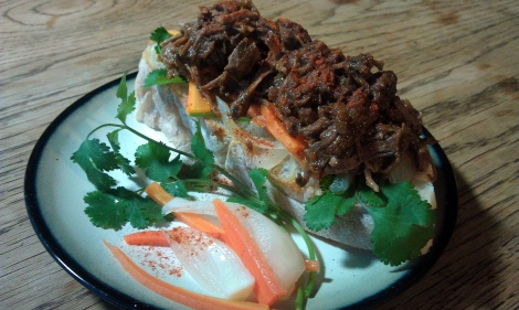 BBQ Beef Sandwich with Banh Mi Vegetables (photo)