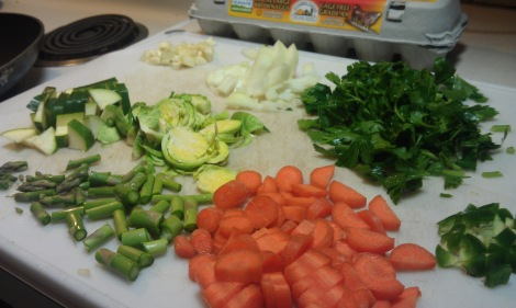Vegetables for low-amine veggie saute (photo)