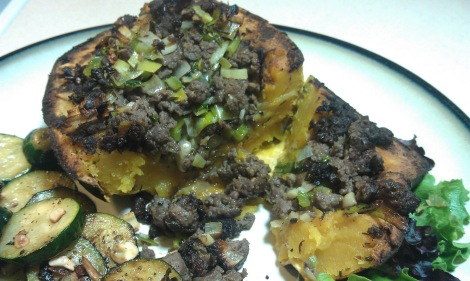 Low-amine stuffed squash (low-amine, gluten-free, soy-free, paleo) (photo)