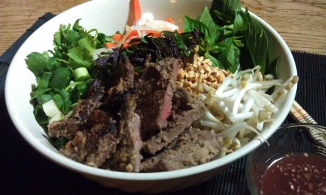 Vietnamese Vermicelli Bowls (bun) (low-amine, gluten-free, soy-free, dairy-free, fish-free, shellfish-free) photo