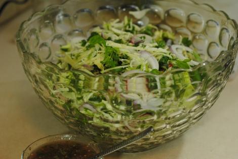 Larb Gai salad ingredient (photo)