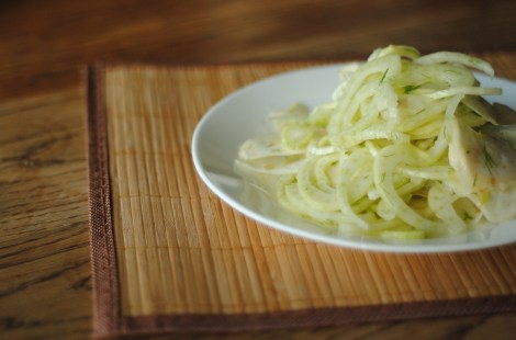 Shaved fennel and celeriac salad (gluten-free, soy-free, dairy-free, nut-free, vegan, paleo) photo