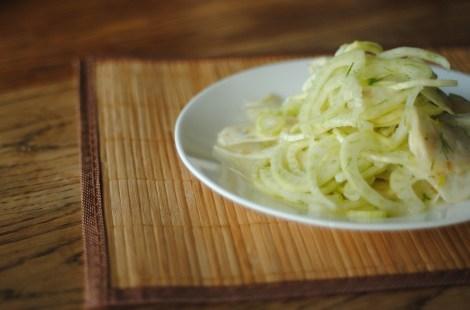 Shaved fennel and celeriac salad (gluten-free, soy-free, dairy-free, nut-free, vegan, paleo) photo