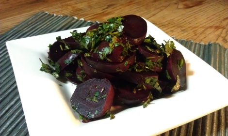 Black Truffle Balsamic Vinegar Beets (low-amine, gluten-free, soy-free, dairy-free, vegetarian, vegan, nut-free, paleo) photo