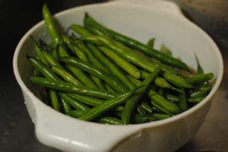 Low-Amine Green Beans, Washed and Prepped (photo)