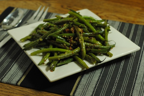 Low-amine Garlic Green Beans (photo)