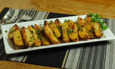 "Greek ""lemon"" roasted potatoes (low-amine, gluten-free, soy-free, dairy-free, egg-free, nut-free, low-fat, vegetarian, vegan) photo"