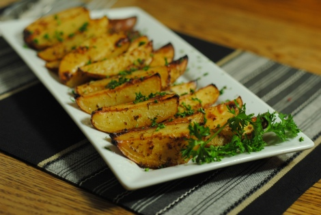 "Low-Amine Greek ""Lemon"" Roasted Potatoes (photo)"