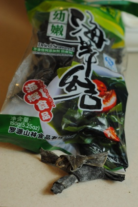 Kombu for spring onion broth (photo)