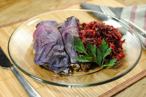 Dill Beef Stuffed Cabbage Rolls (photo)