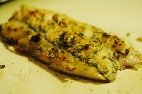 """Dill, Garlic, and""""Lemon"""" flavored cod fillets. Delicious! (low-amine, gluten-free, soy-free, dairy-free, nut-free, paleo) photo"""