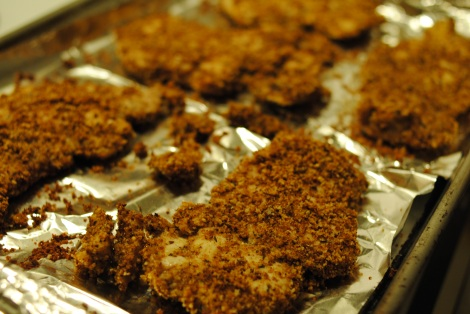 Breaded baked chicken cutlets (low-amine, gluten-free, soy-free, dairy-free, nut-free, fish-free, tomato-free) photo