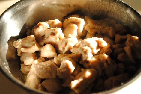 Cooked chicken for Green Curry Chicken (low-amine, gluten-free, soy-free, dairy-free, nut-free, paleo, low-fat, low-carb) photo